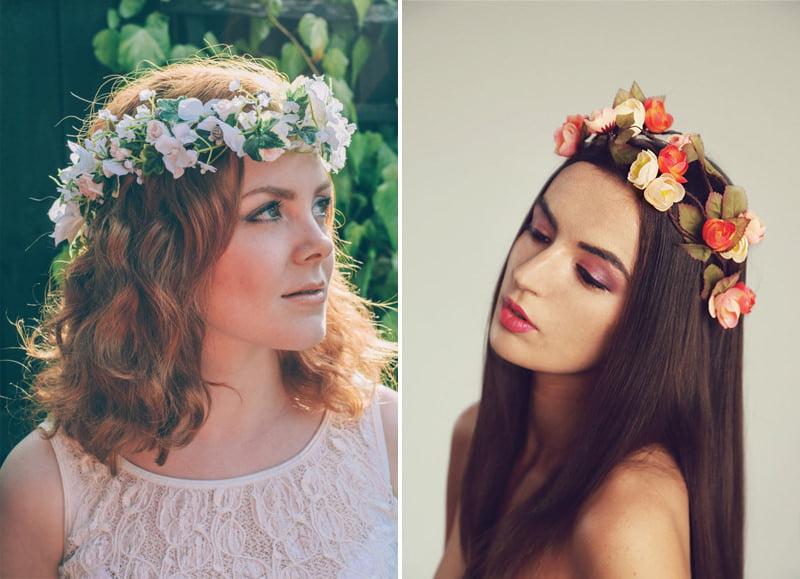 Bohemian Bride Wedding Flower Crowns Garlands