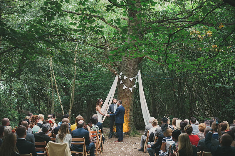 Bohemian brides woodland wedding venues maureen du for Places to have receptions for weddings