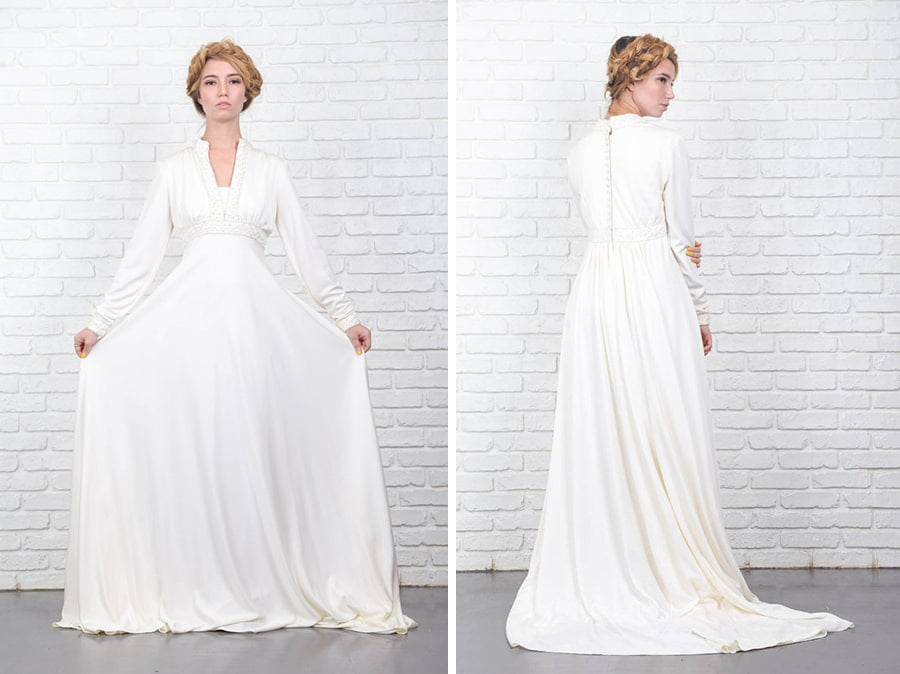 bohemian-70s-ivory-train-vintage-wedding-dress-etsy
