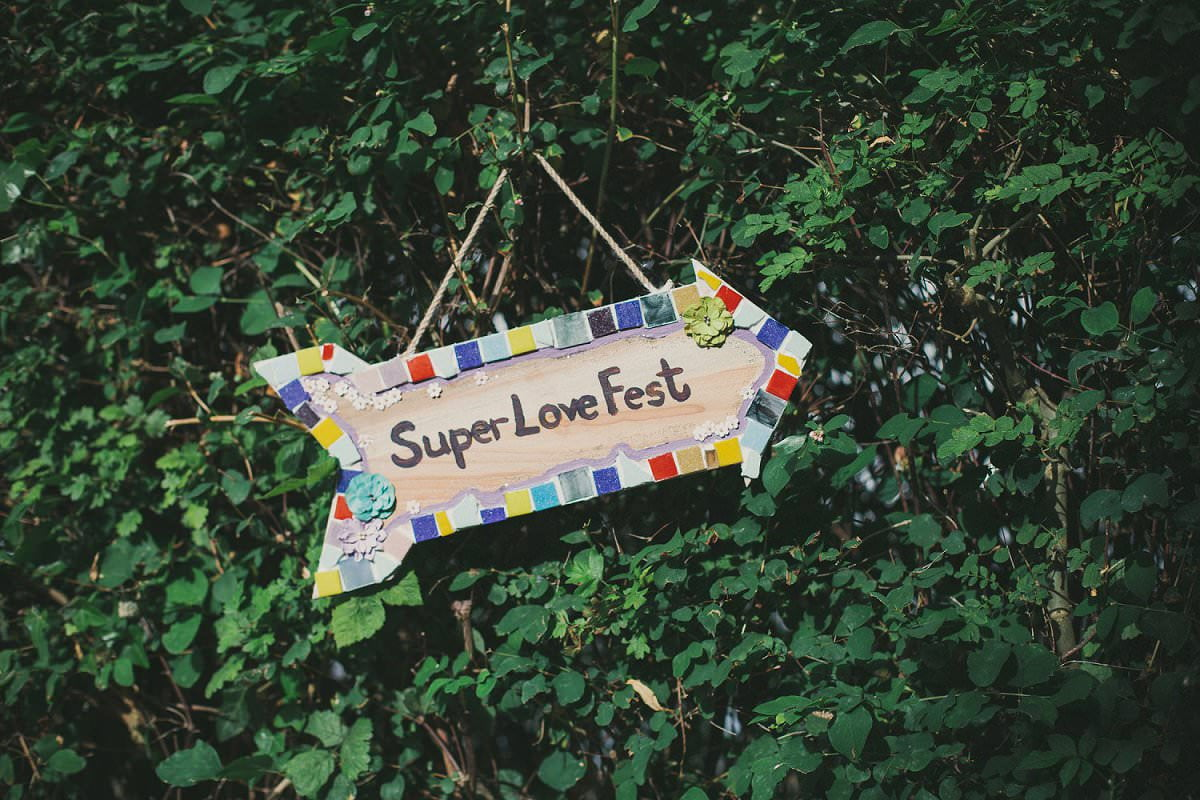 Super Love Fest DIY tile at wedding in The Perch pub Oxford