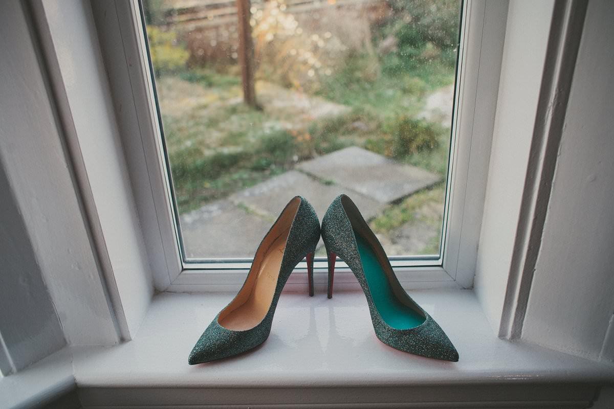 bride shoes edinburgh wedding photographer