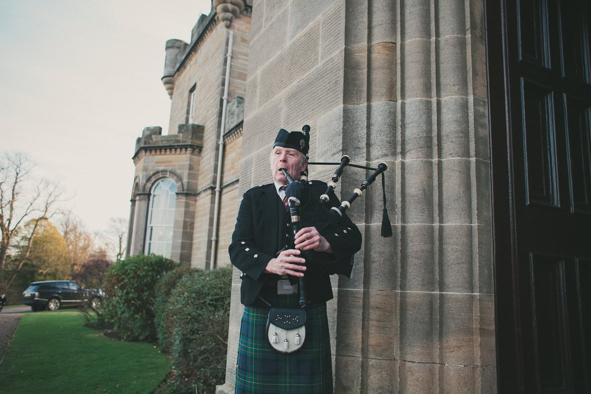 wedding piper oxenfoord castle