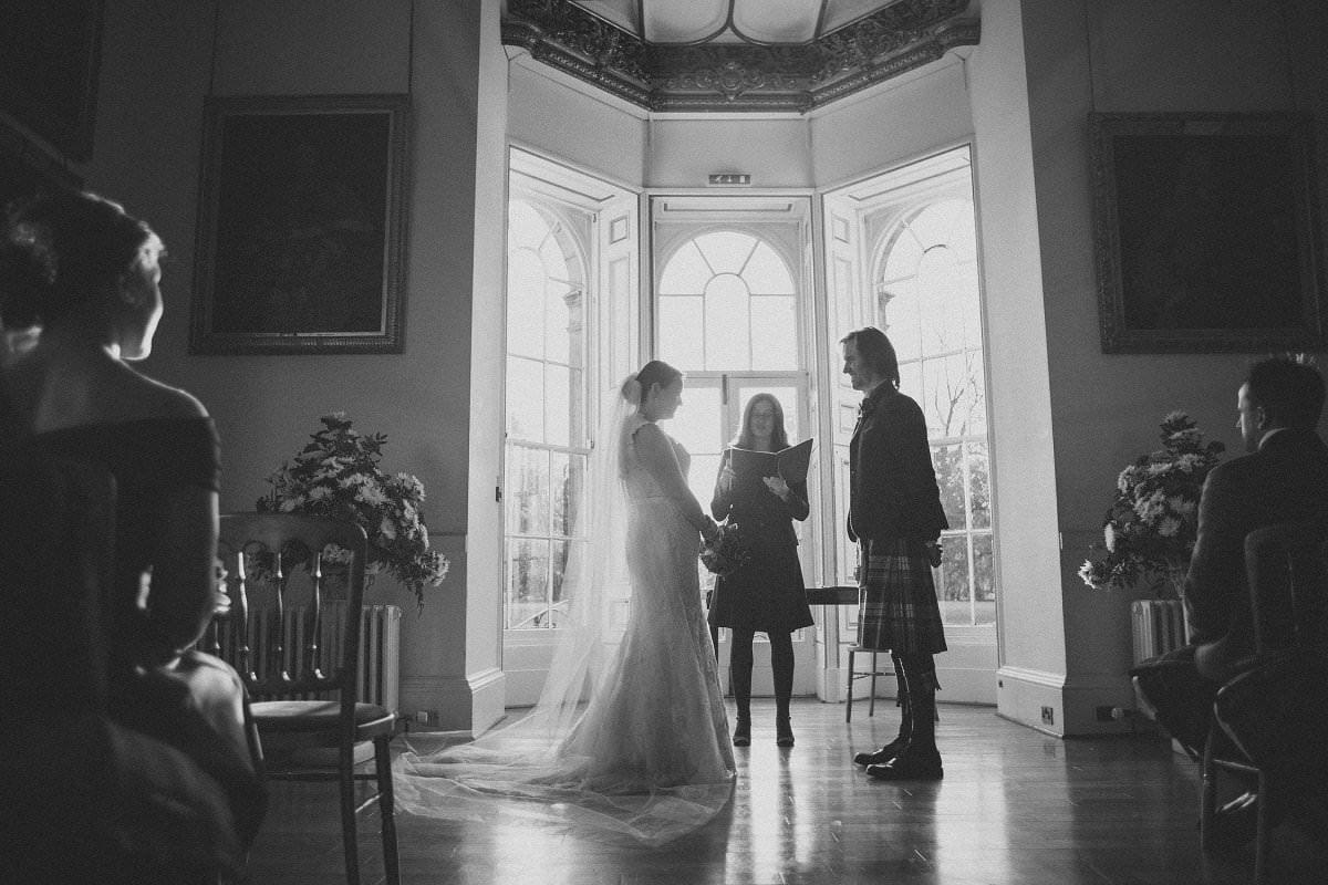 ceremony oxenfoord castle wedding photographer