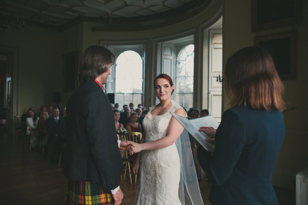 oxenfoord castle ceremony wedding photography