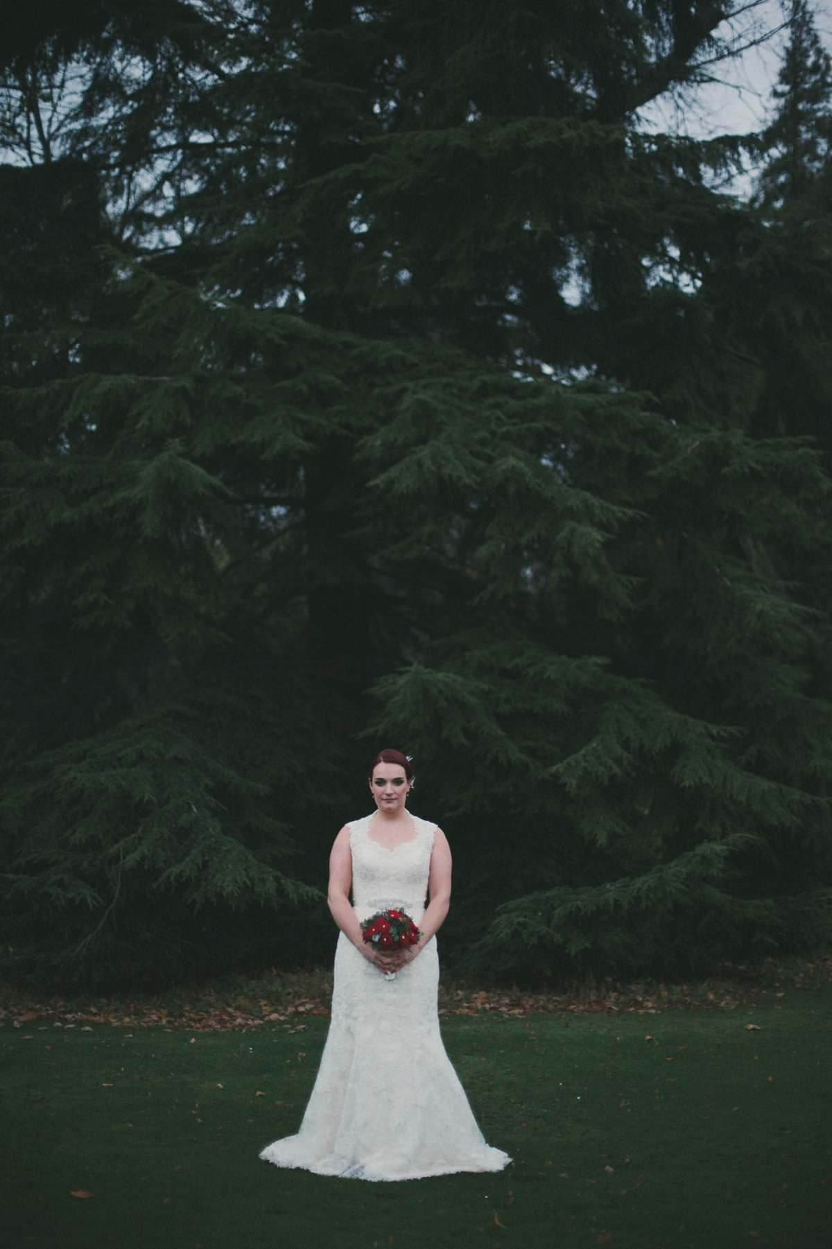 bride oxenfoord castle wedding photography