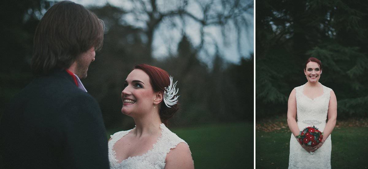 bride with bouquet oxenfoord castle wedding