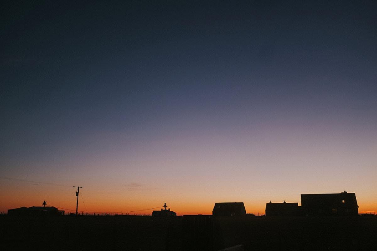 sunset silhouette island benbecula