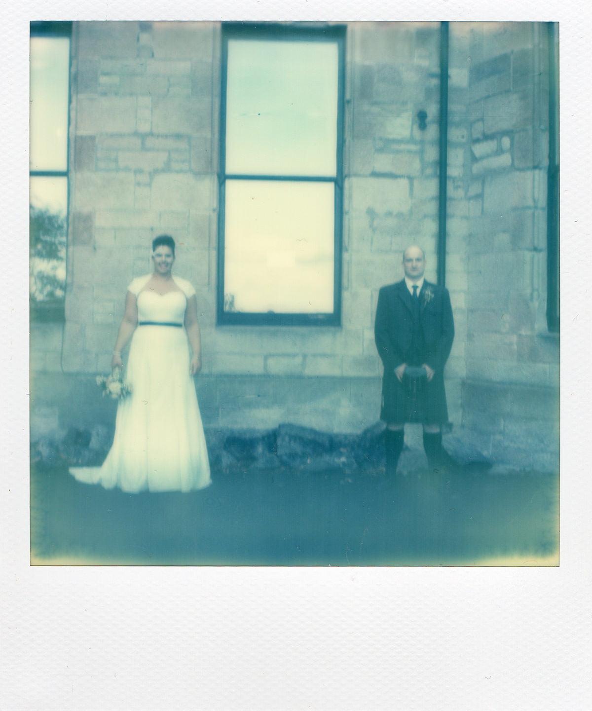 polaroid stirling wedding photography