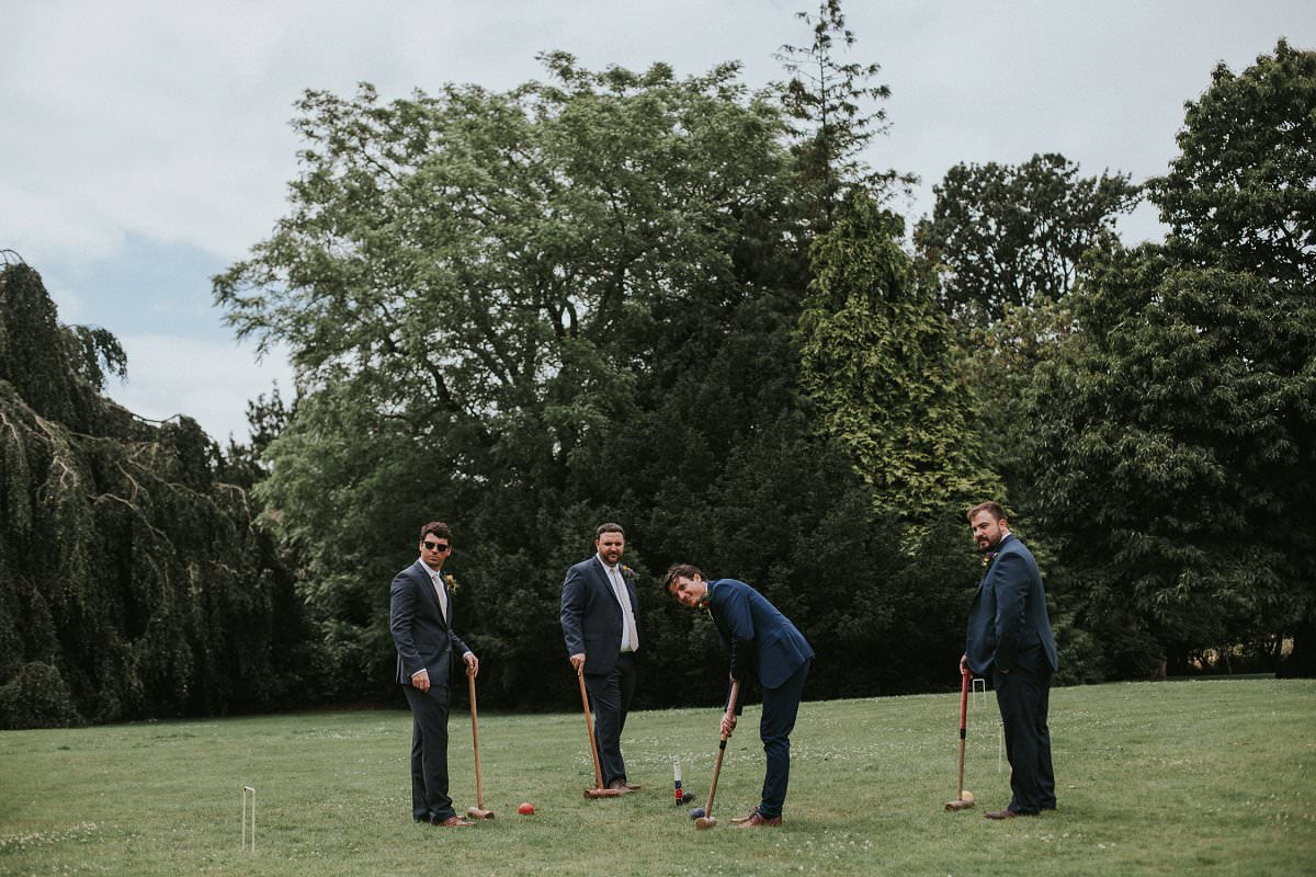 croquet game wedding