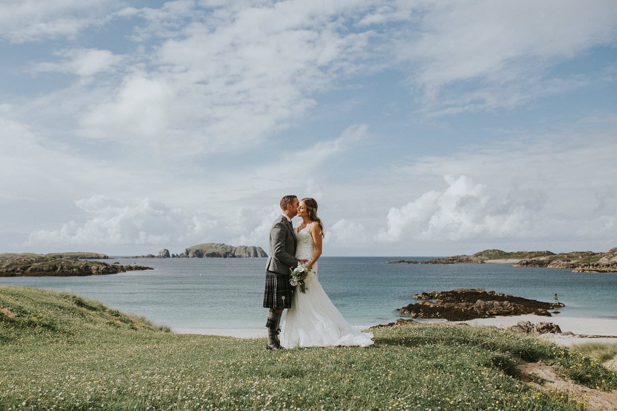 cliff edge beach wedding scotland