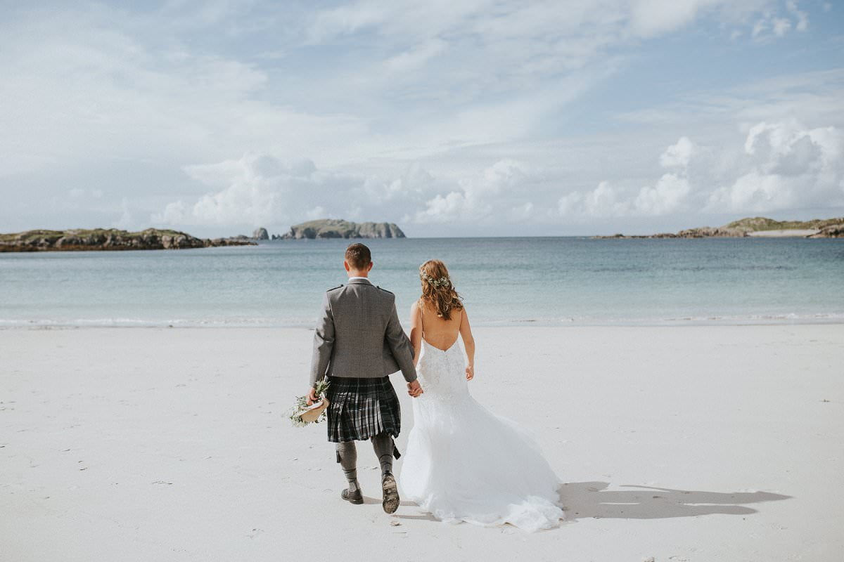 bosta beach wedding scotland photography