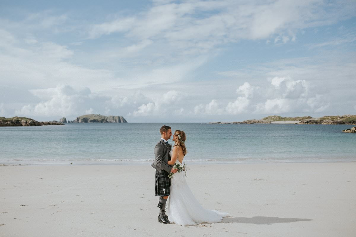 beach island wedding scotland