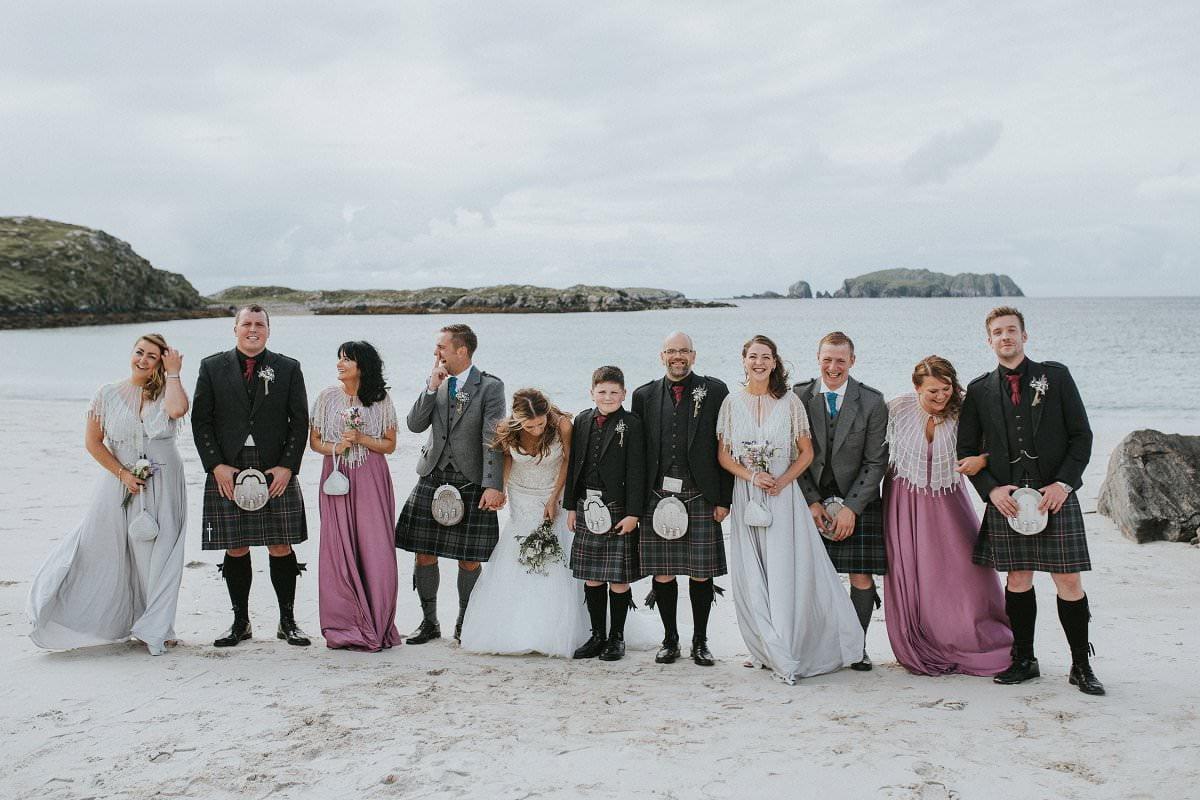 western isles wedding party