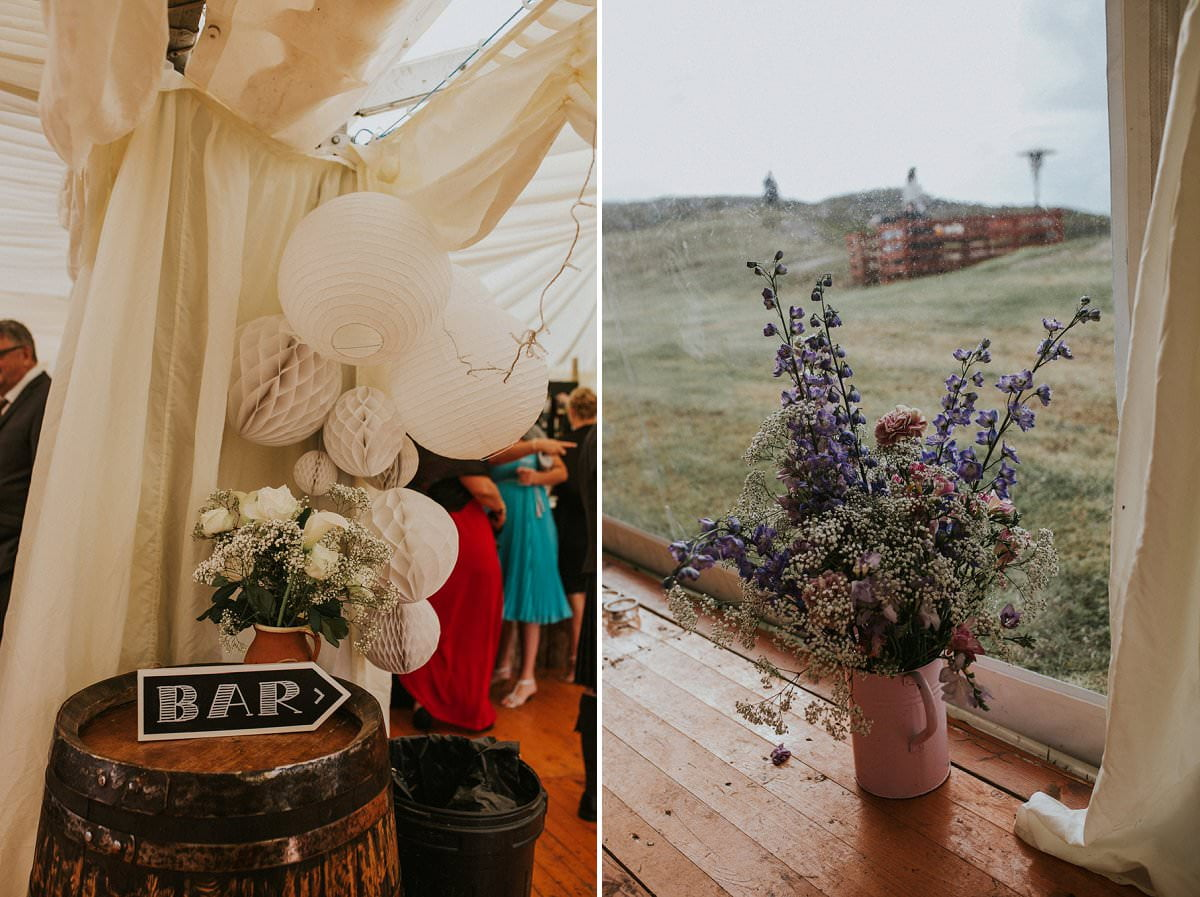 rustic DIY wedding outer hebrides