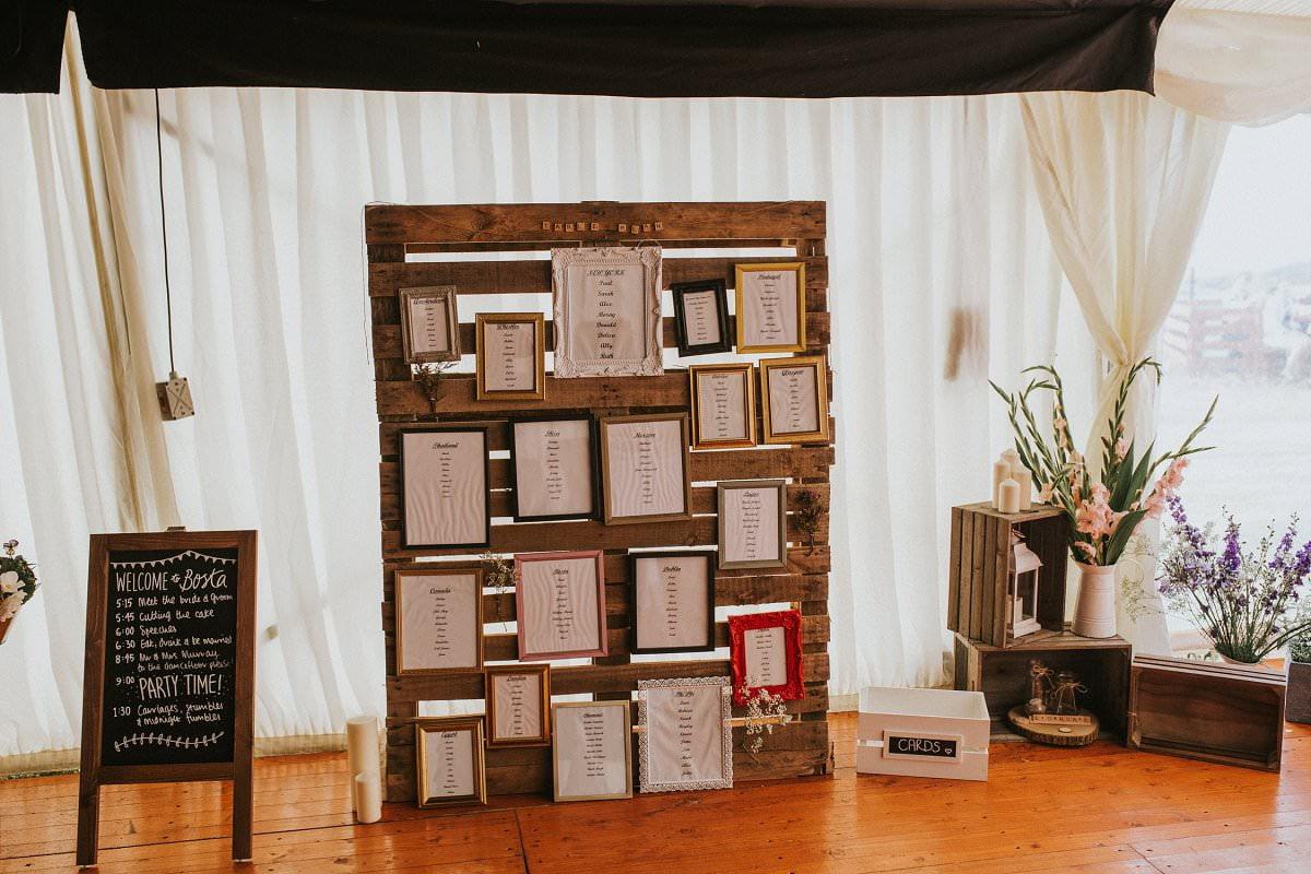 rustic DIY wedding isle of lewis