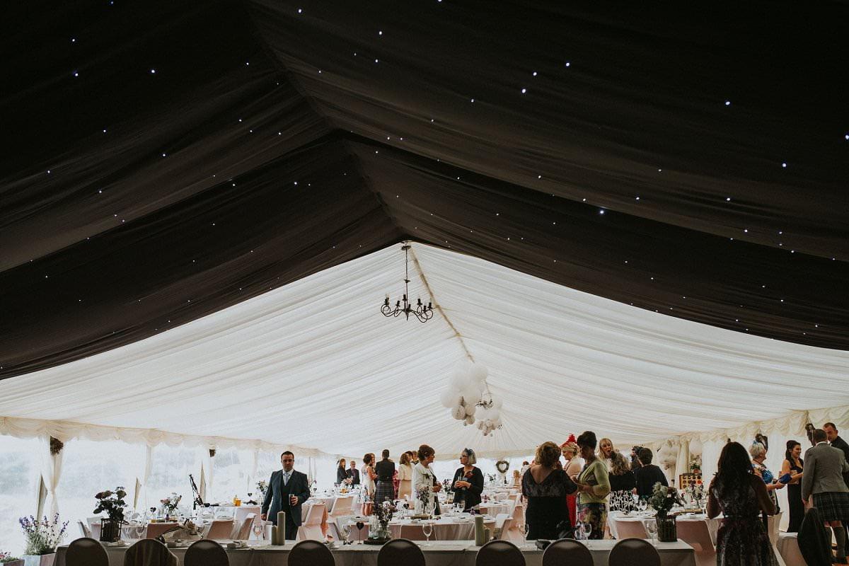 DIY marquee wedding star roof