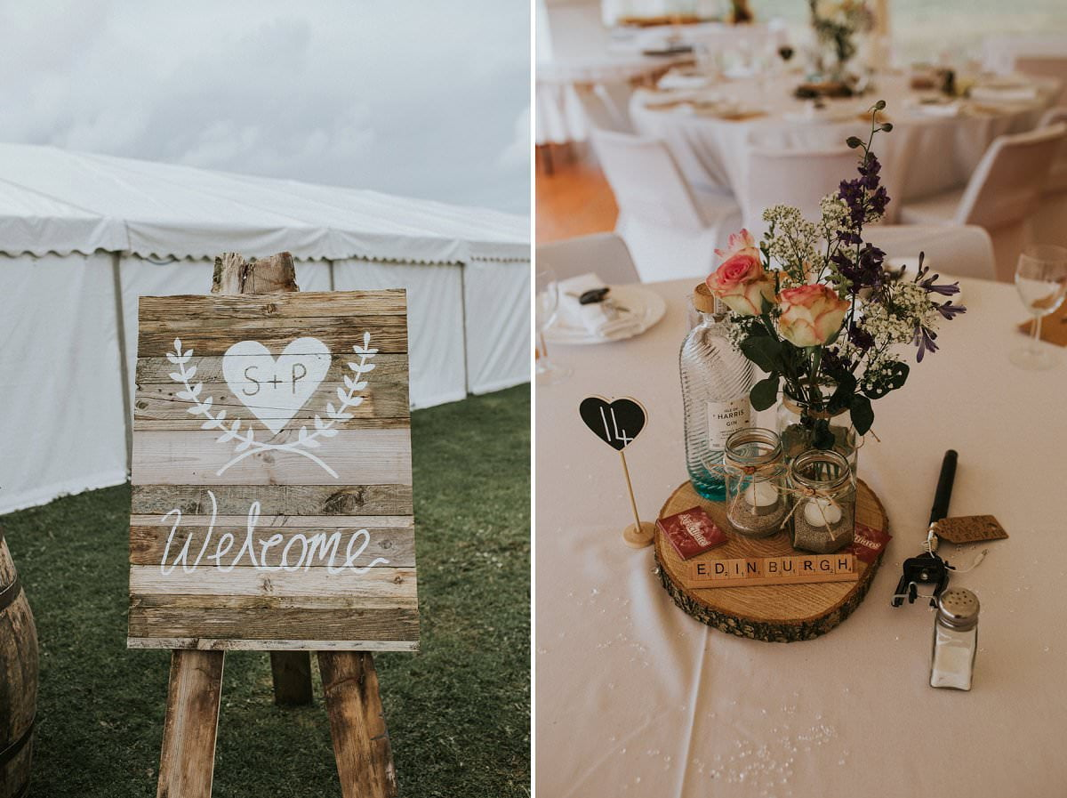 rustic marquee wedding scotland harris