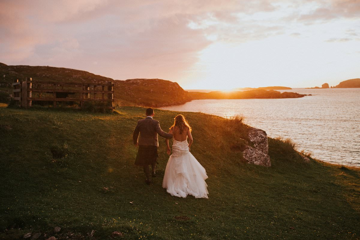 golden hour isle of lewis wedding
