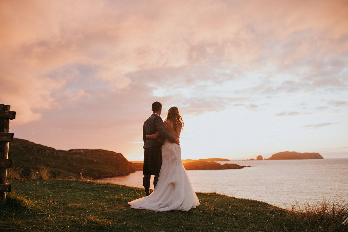 outer hebrides sunset wedding photography