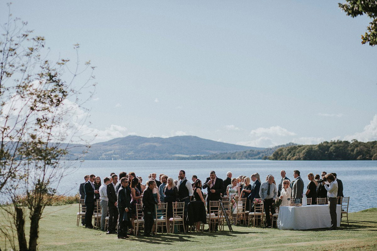 lochside wedding ceremony