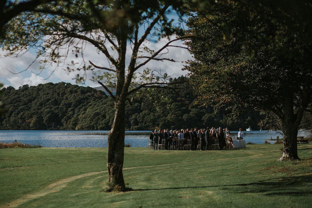 loch lomond wedding guests ceremony