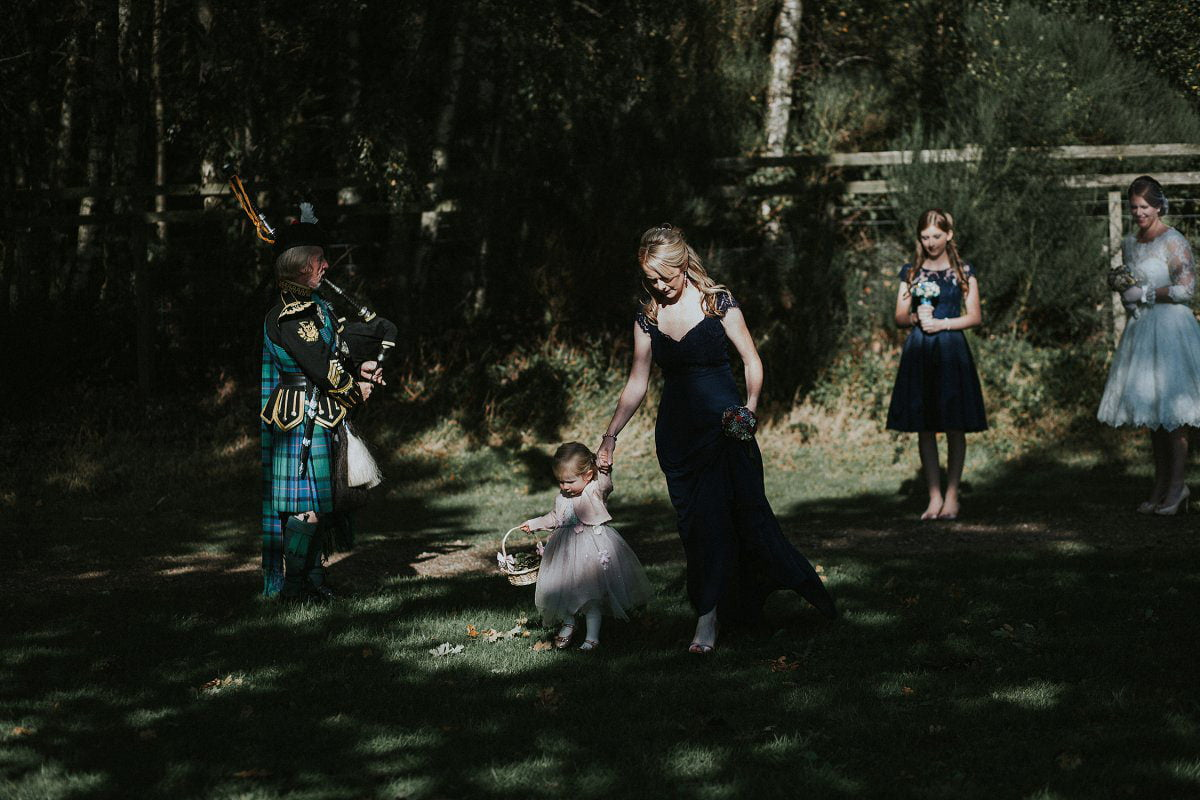 flower girl down aisle scotland