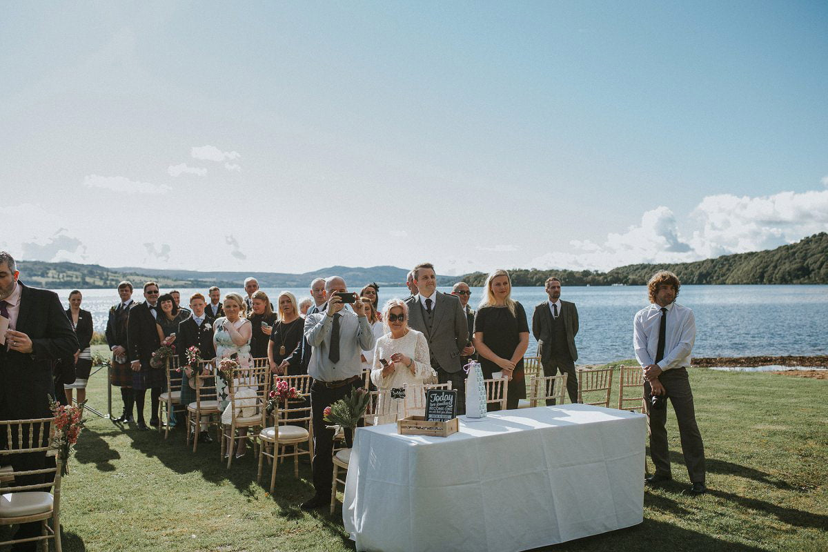 lochside wedding scotland guests