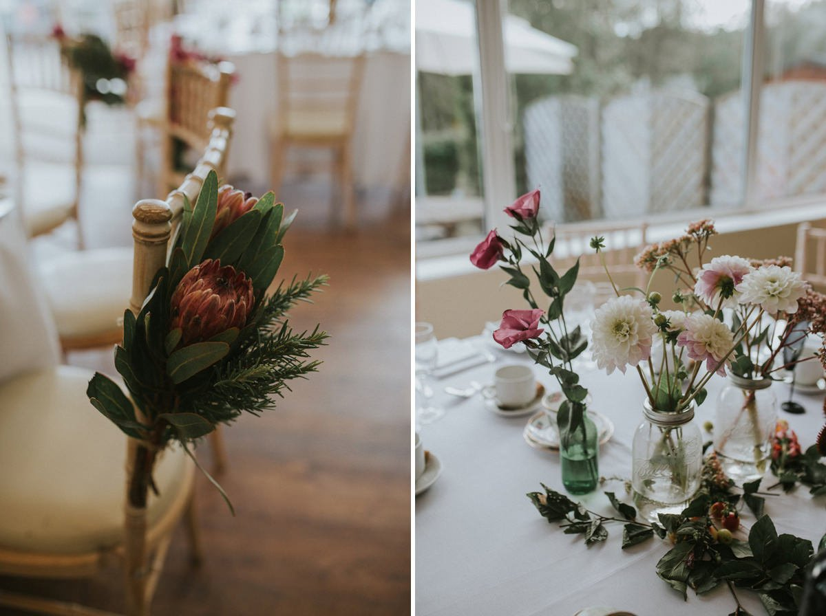 woodland autumn wedding flowers