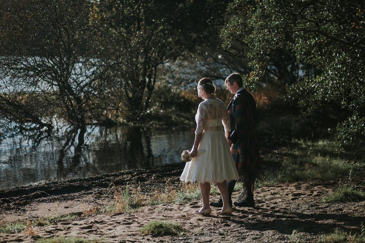 natural light wedding photography lochside portraits
