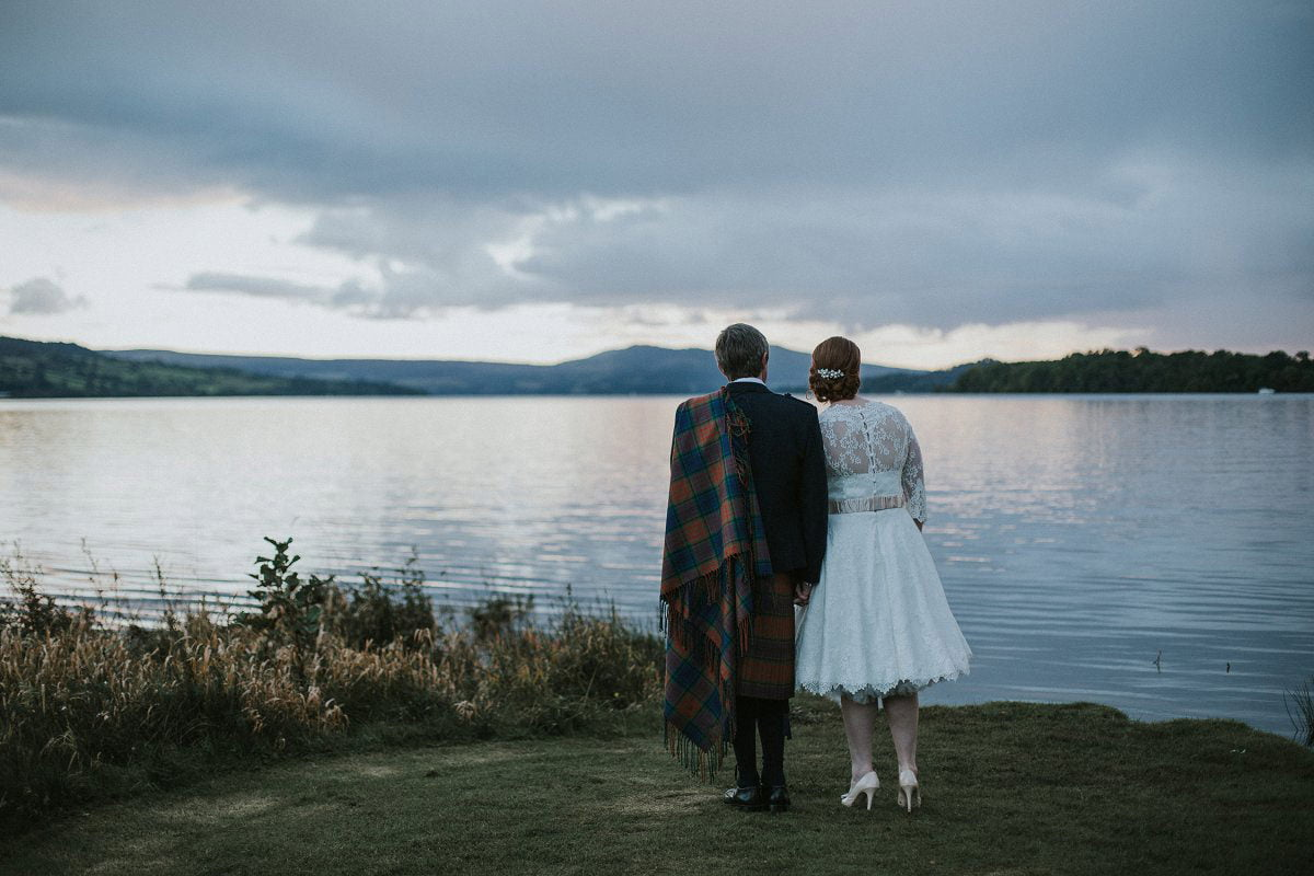 natural lochside wedding photography