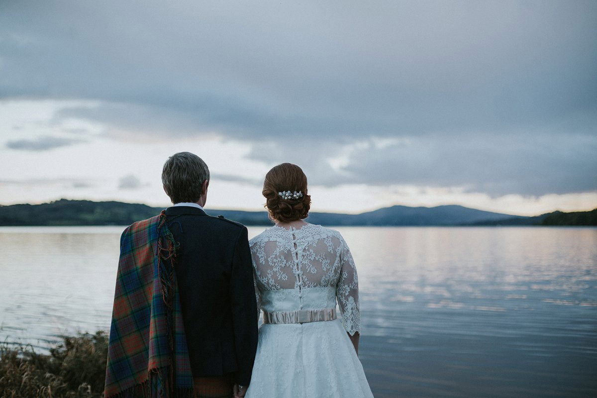 loch lomond wedding portrait view