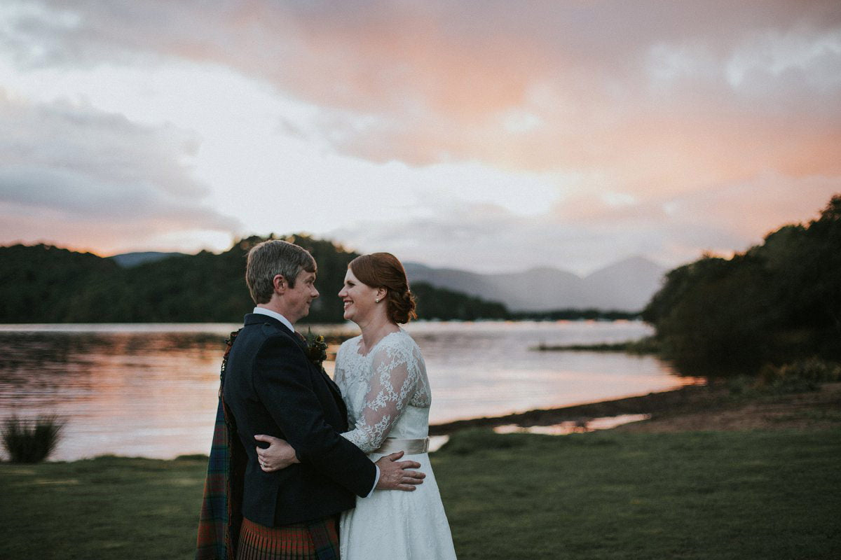 sunset portraits wedding photography