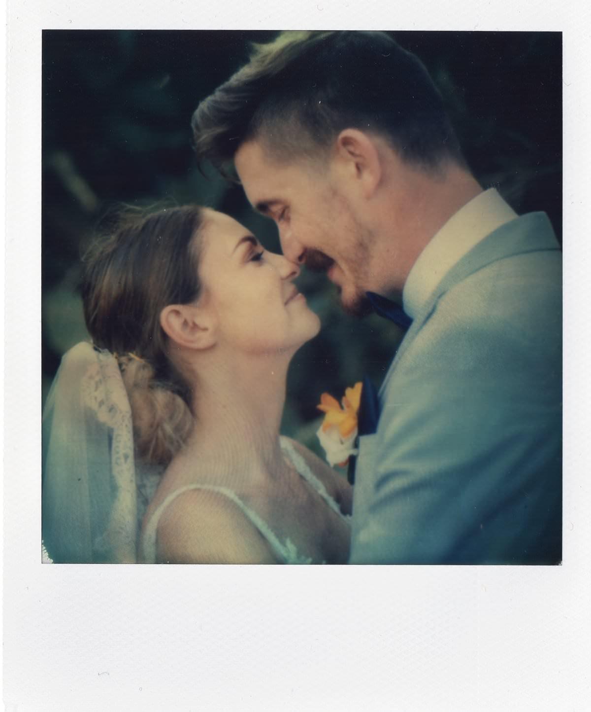 artistic polaroid wedding photography