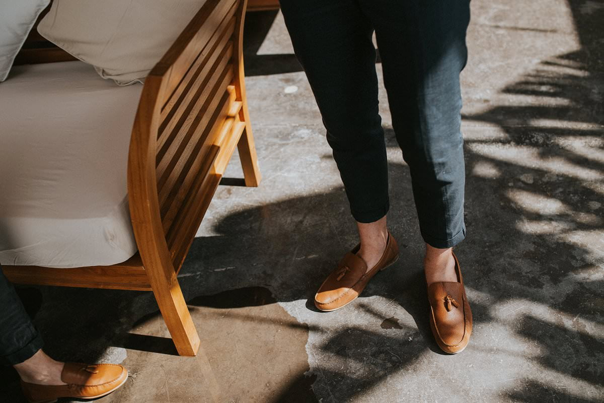 hipster groom loafers