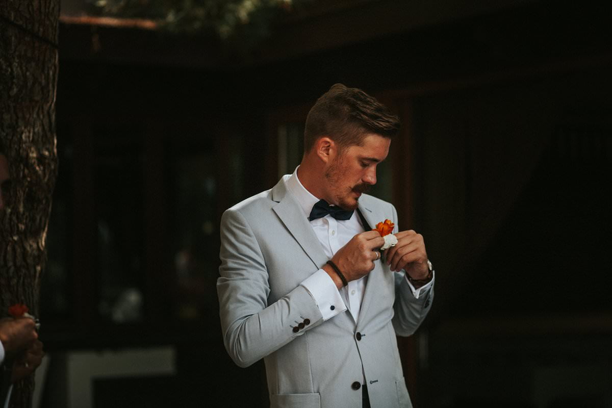 hipster groom buttonhole