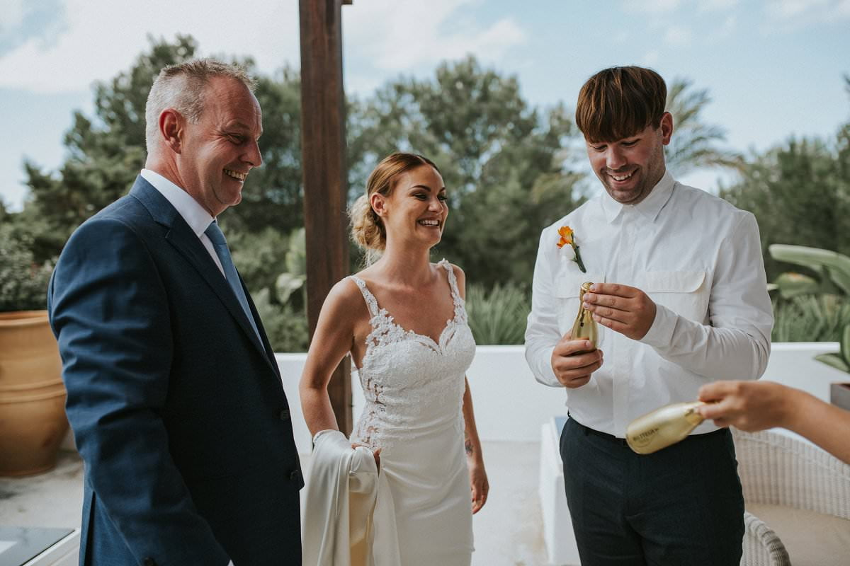 destination wedding bride smiling