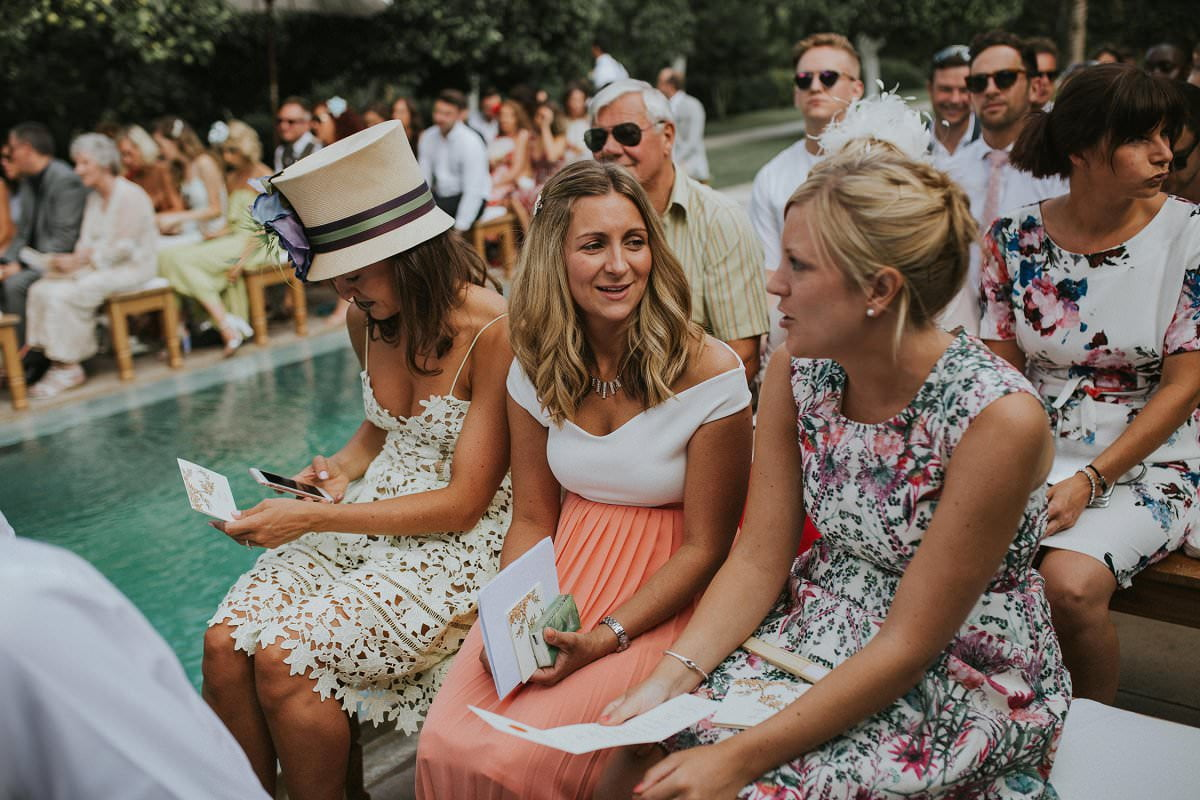 stylish destination wedding guests