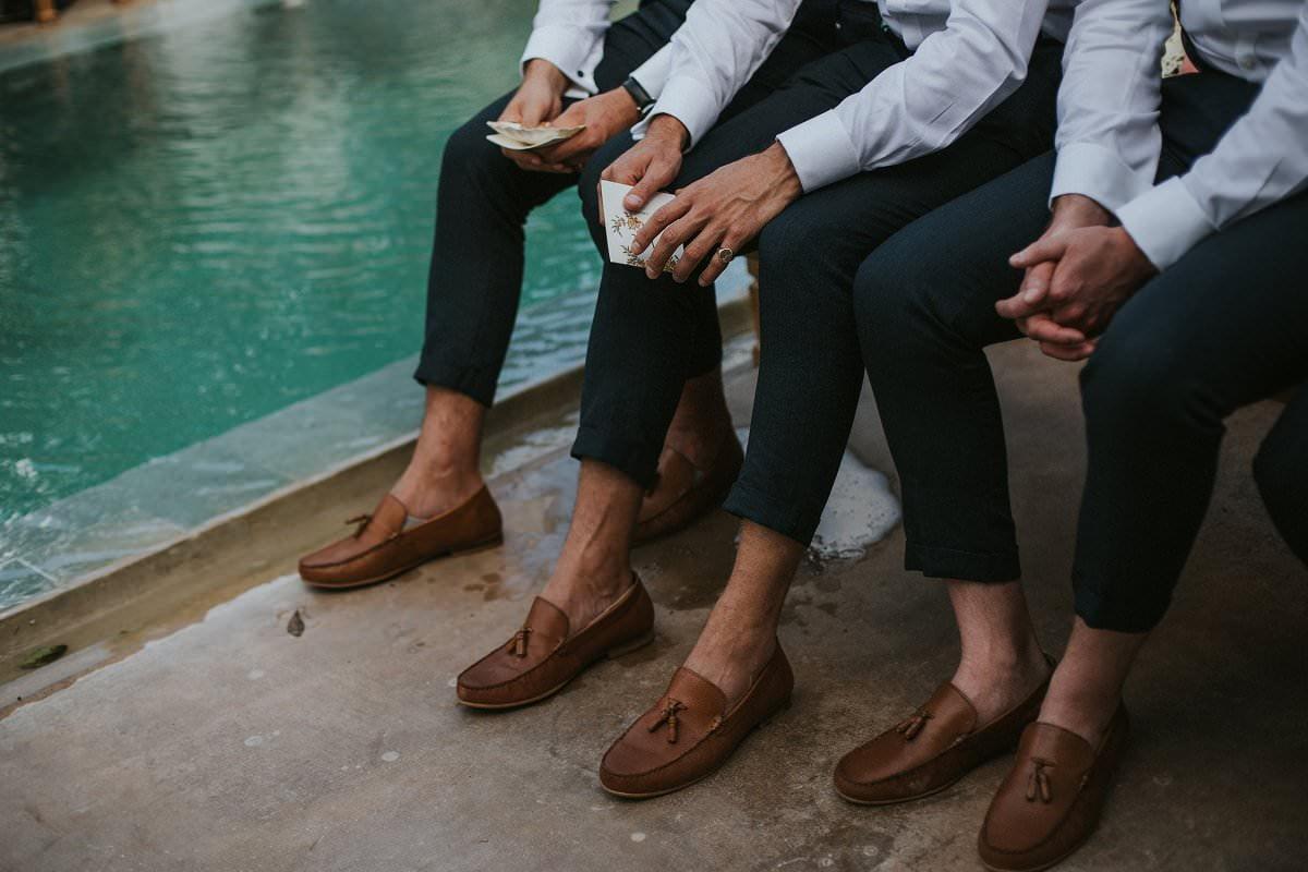 stylish groomsmen loafers wedding