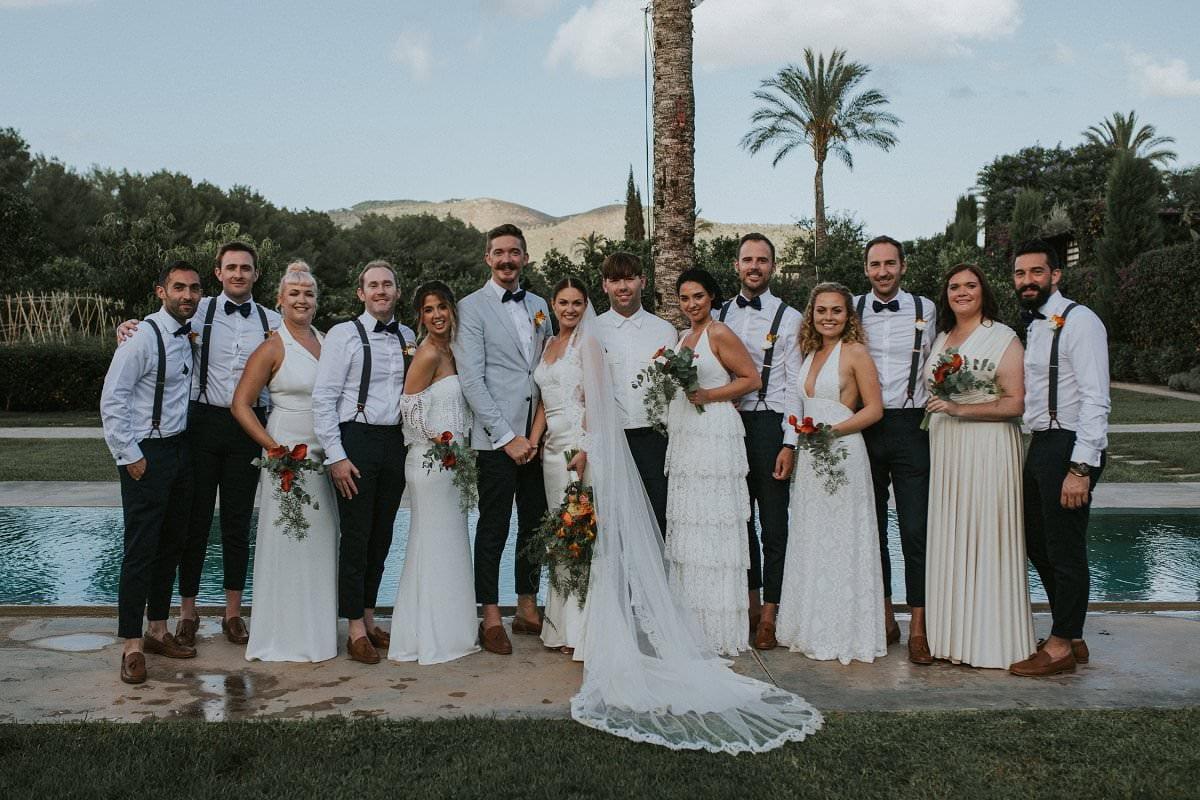 stylish hipster wedding groomsmen bridesmaids