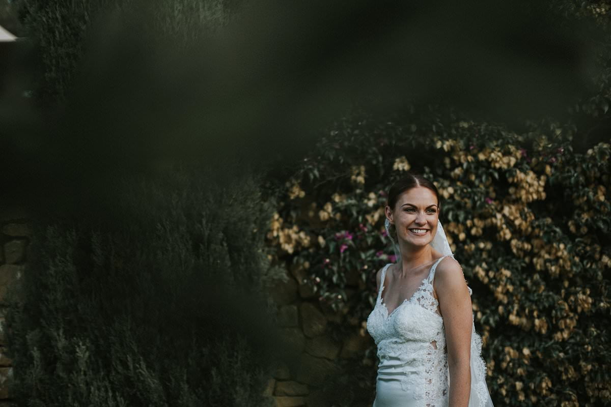 stylish bride white lace