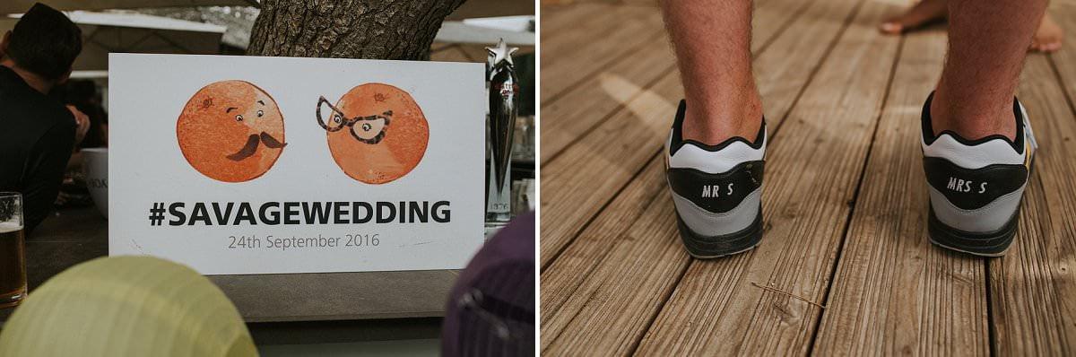 custom wedding trainers