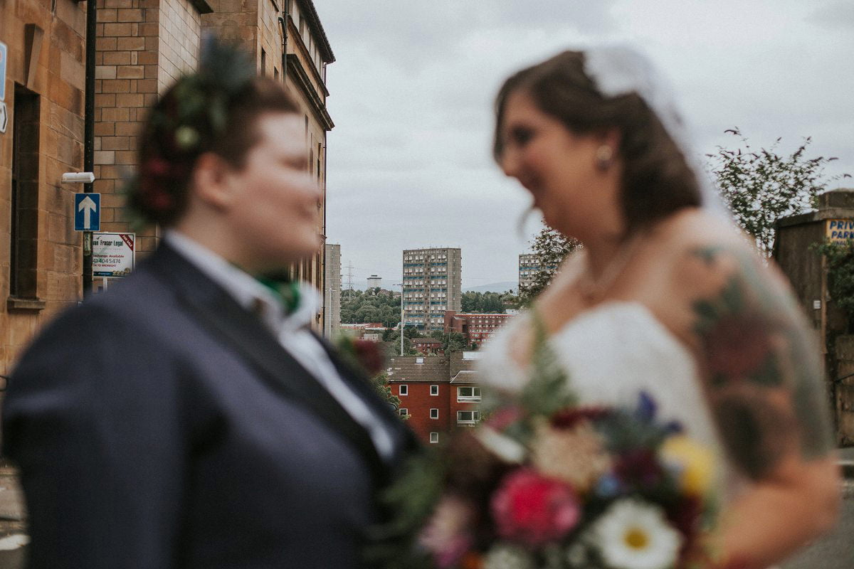 quirky glasgow wedding photography