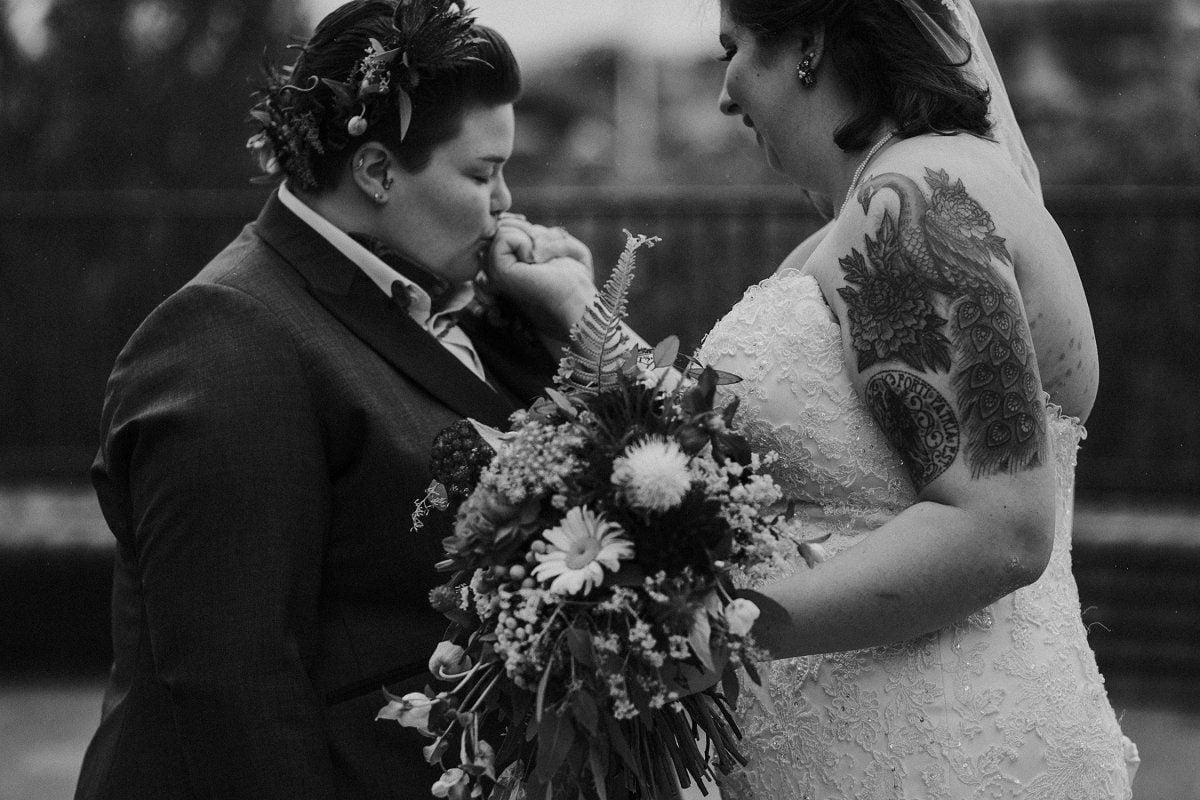 romantic same sex wedding photography