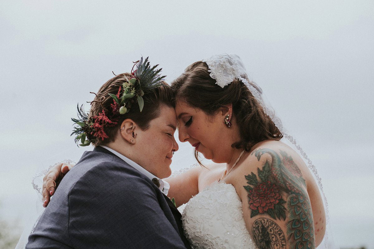 tattooed alternative wedding photography