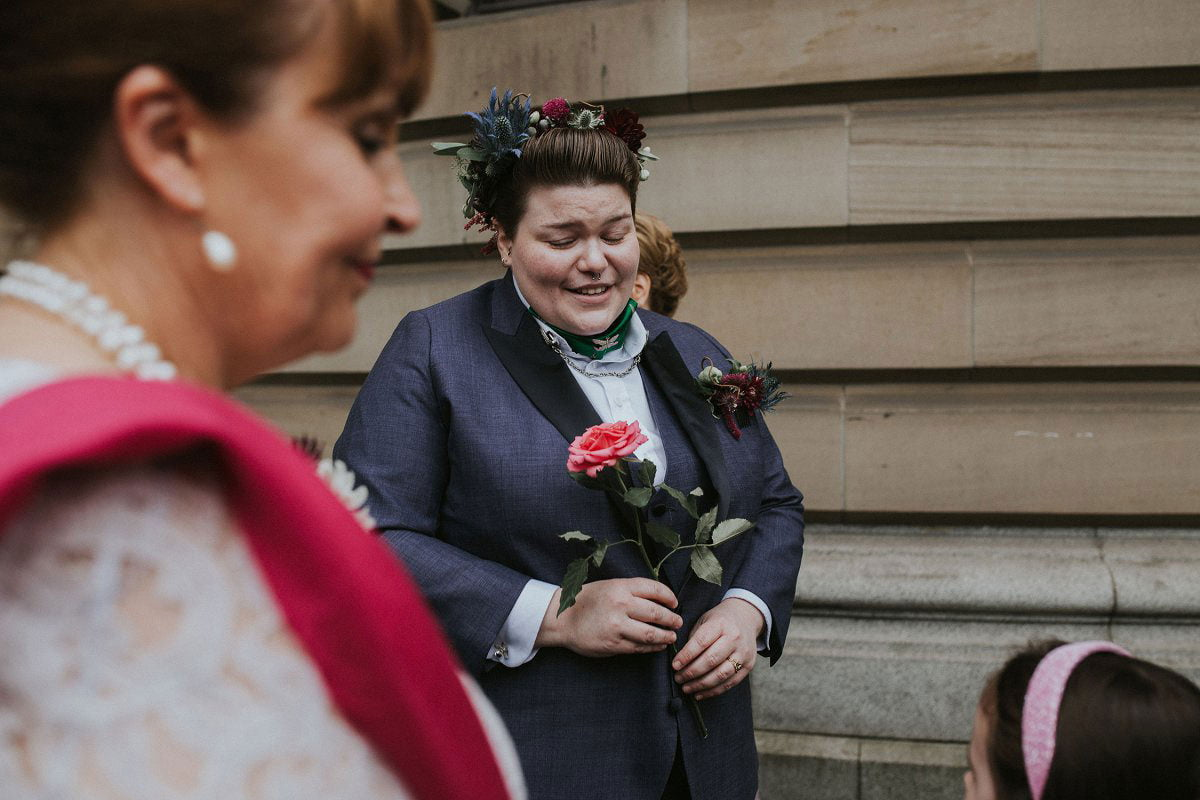 glasgow quirky wedding photography