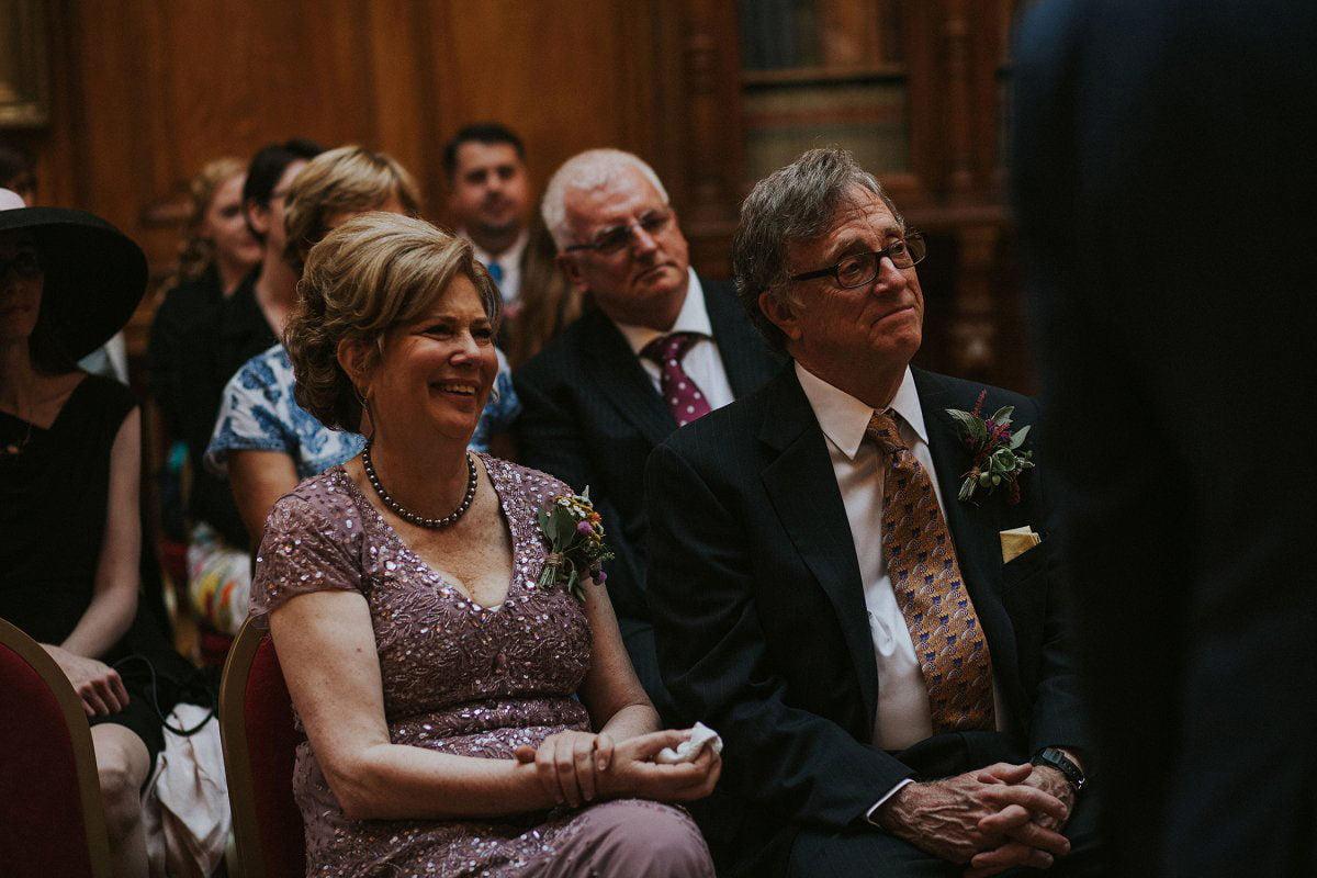 proud parents wedding