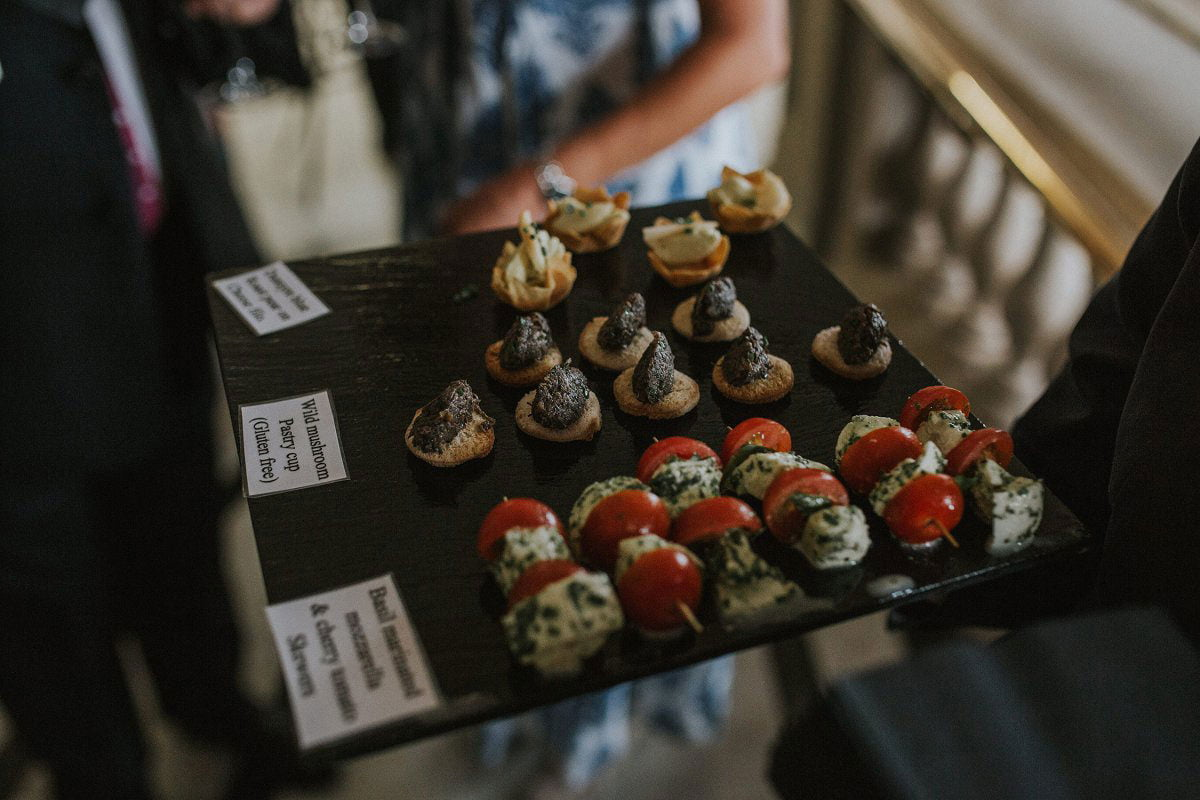 canapes mitchell library wedding