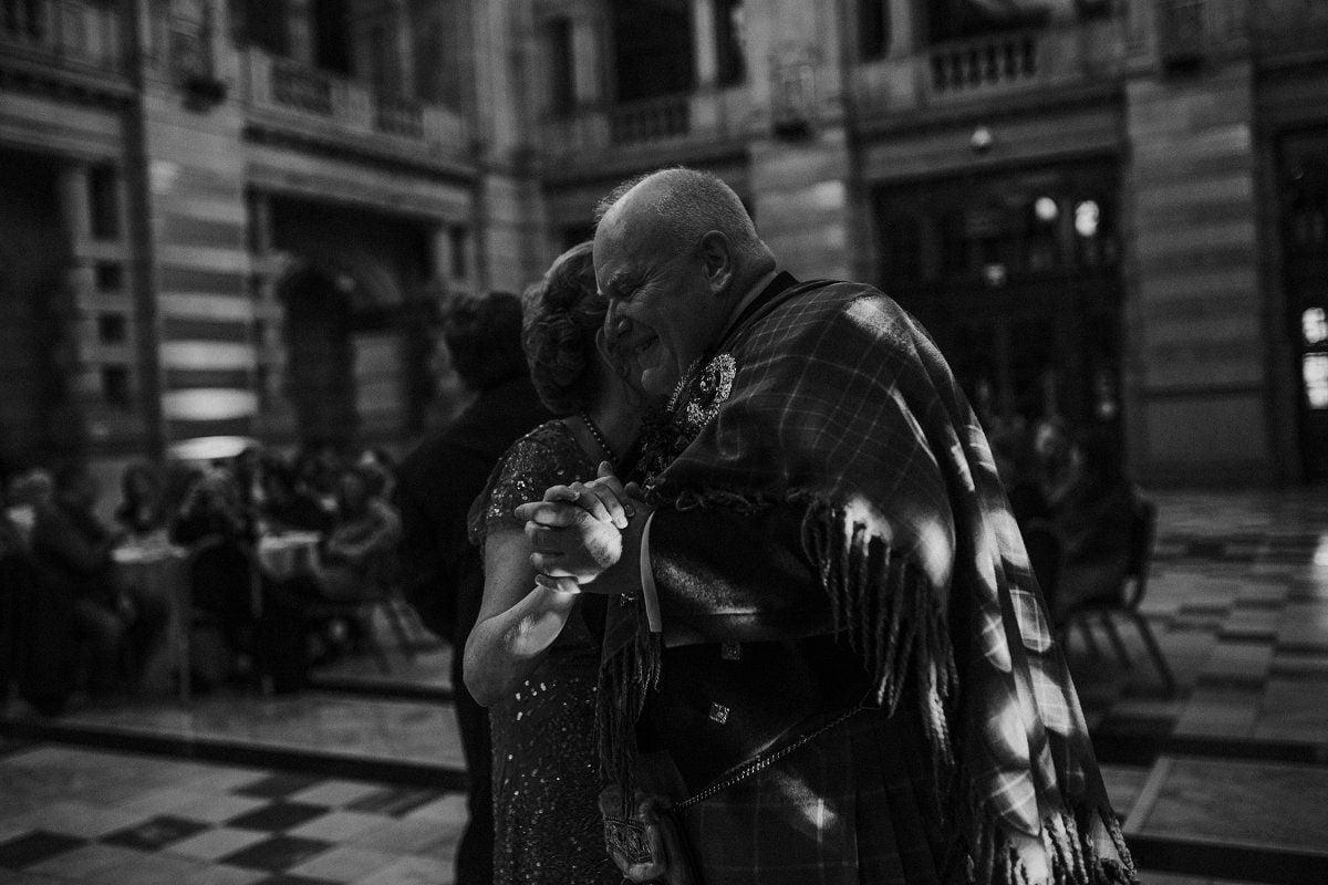 parents dancing wedding