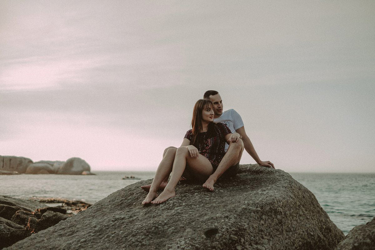 clifton beach engagement photography