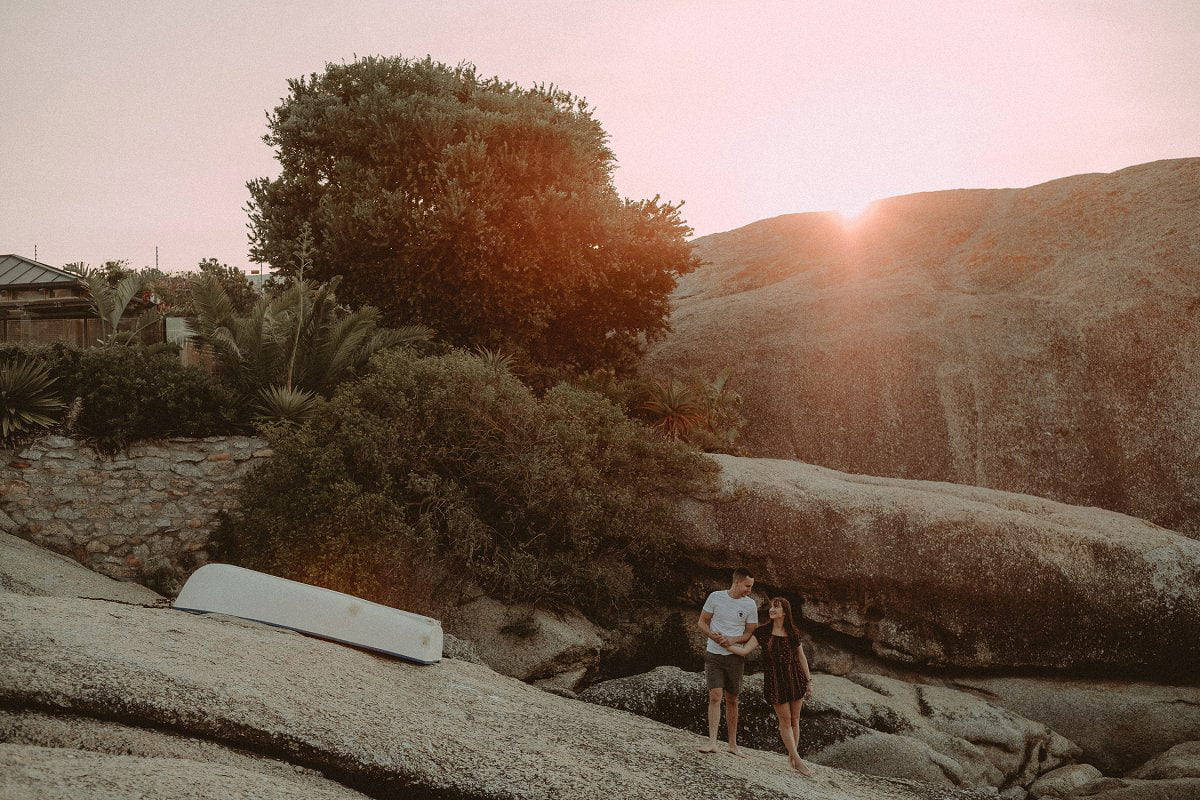 sunset clifton beach engagement